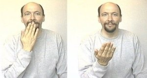 Image: Saying 'Thank you' in sign language, via The Reluctant Blogger
