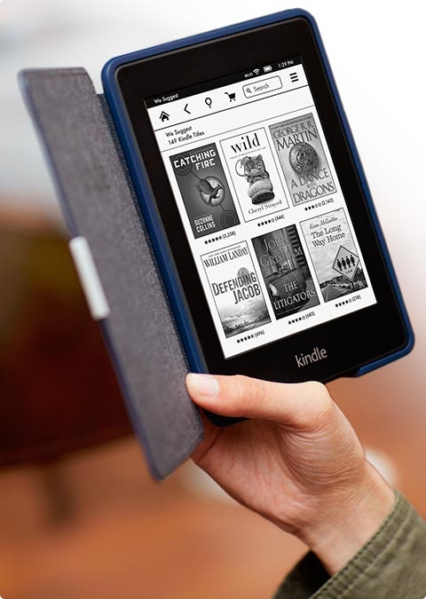 Amazon Kindle Touch in hand
