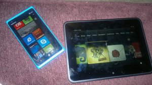 Nokia Lumia 900 and Kindle Fire HD