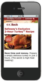 Safeway Mobile site on iPhone