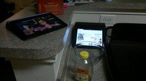 Tonnia Using 2 iPads
