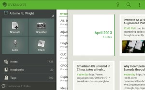 Screenshot of Evernote from Kindle Fire HD